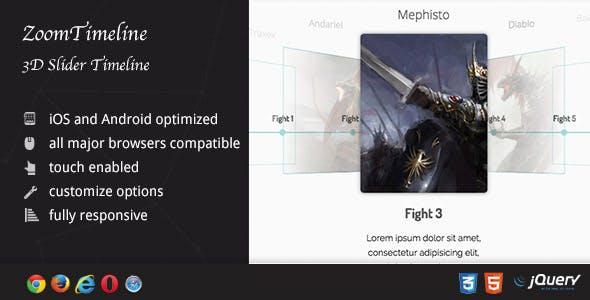 ZoomTimeline AddOn - 3D Slider Timeline
