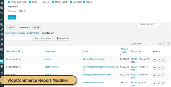 WooCommerce Report Modifier - CodeCanyon Item for Sale
