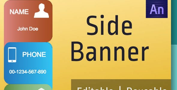 Speech Bubble Side Ad Banner