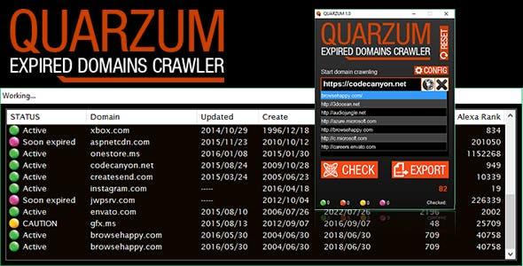 QUARZUM - Expired Domains Crawler