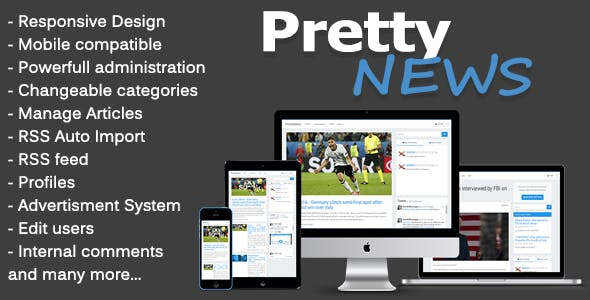 PrettyNews - Newspaper & Magazine CMS