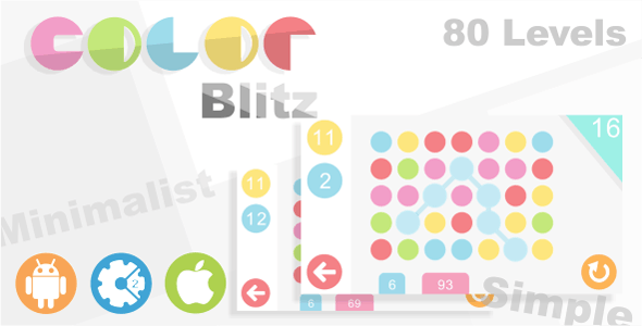 Color Blitz - HTML5 Puzzle Game + Admob