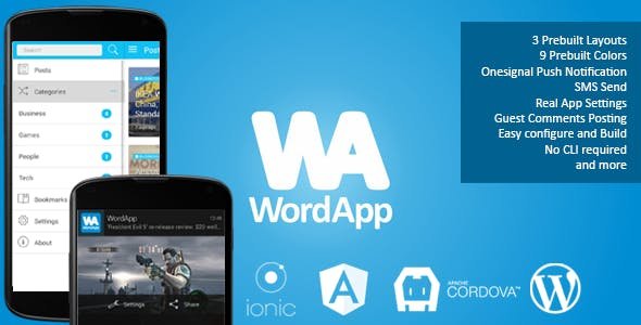 WordApp — PhoneGap/Cordova Wordpress Hybrid App
