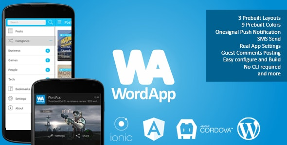 WordApp — PhoneGap/Cordova Wordpress Hybrid App - CodeCanyon Item for Sale
