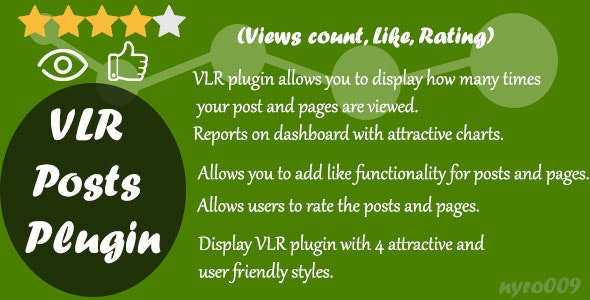WordPress Views Likes & Ratings - VLR - CodeCanyon Item for Sale