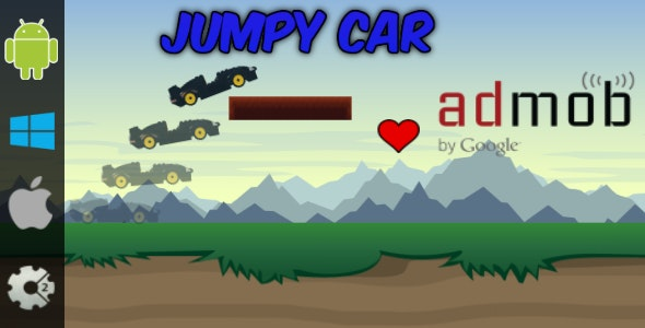 Jumpy Car - HTML5 Game + Admob (Construct 2 - CAPX) - CodeCanyon Item for Sale