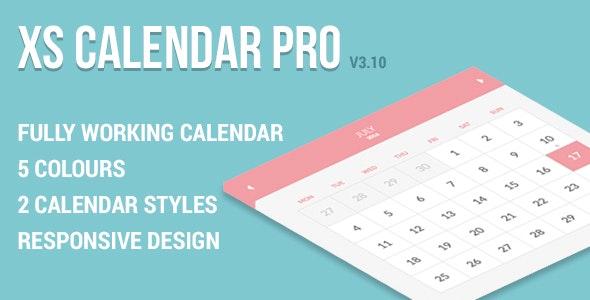 XS Calendar Pro - Complete CSS3 Calendar - CodeCanyon Item for Sale