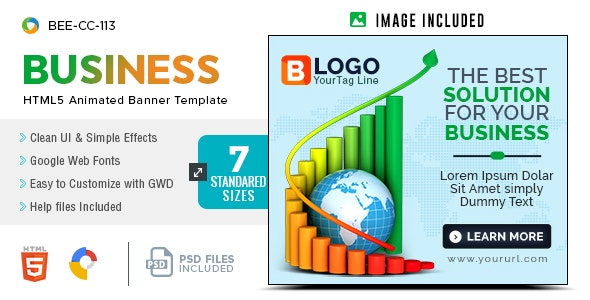 Business HTML5 Banners - GWD - 7 Sizes(BEE-CC-113) - CodeCanyon Item for Sale