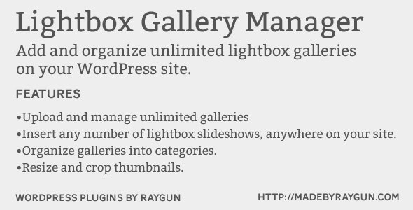 Lightbox Gallery Manager - CodeCanyon Item for Sale
