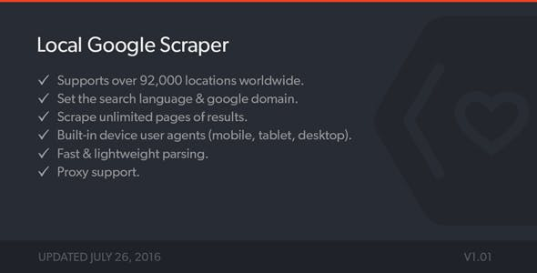 Local Google Results Scraper - PHP Class