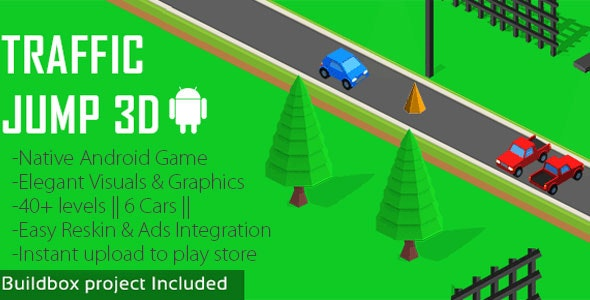 Traffic Jump 3D Android Game - CodeCanyon Item for Sale
