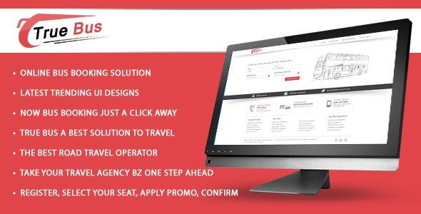 Online Bus Ticket Booking and Reservation System- True Bus - CodeCanyon Item for Sale