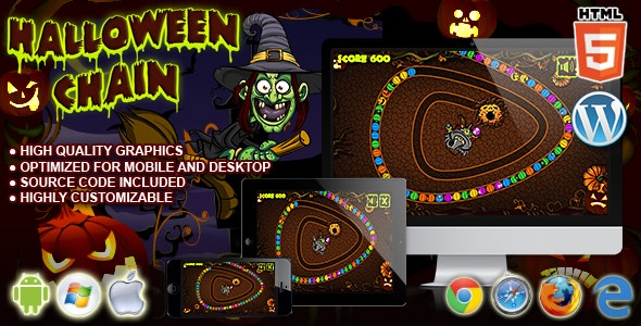 Halloween Chain - HTML5 Game - CodeCanyon Item for Sale