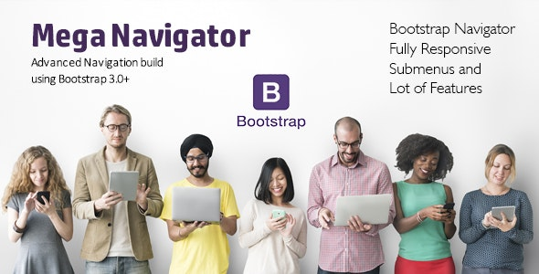 Advanced Navigation Build using Bootstrap 3.0+ - CodeCanyon Item for Sale