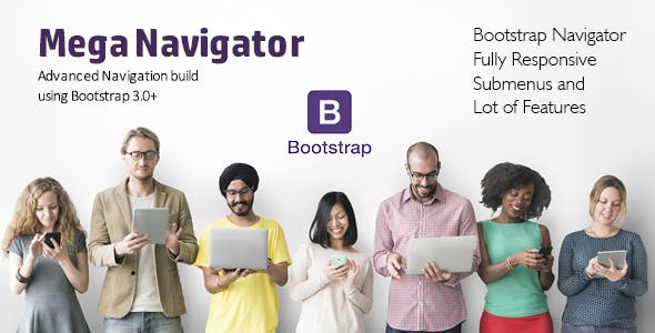 Advanced Navigation Build using Bootstrap 3.0+