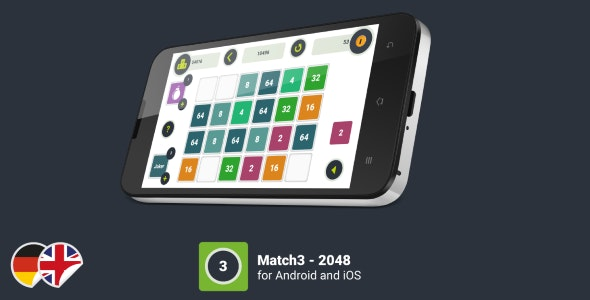 Match3 - 2048 Game (Android & iOS) - CocoonIO - CodeCanyon Item for Sale