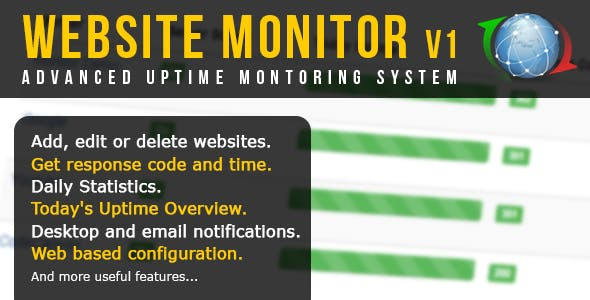 Advanced Website Uptime Monitor