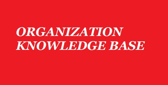 Organization's Knowledge Management