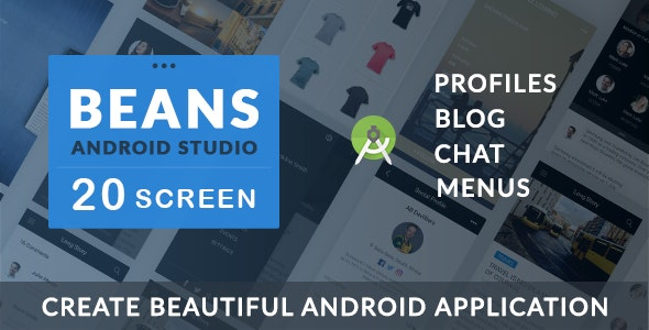 BEANS UI KIT - Android App template - CodeCanyon Item for Sale