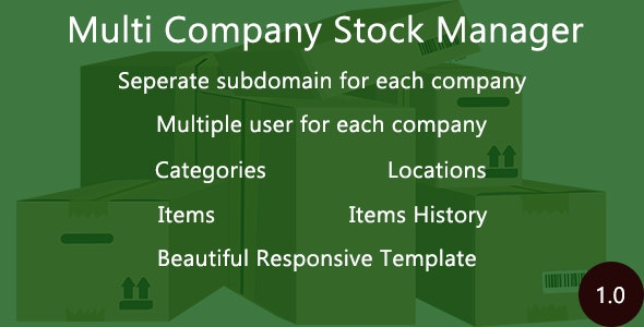 Multi Company Stock Manager - CodeCanyon Item for Sale