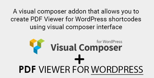 Visual Composer Addon for PDF Viewer for WordPress