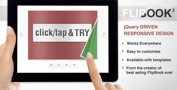 Responsive FlipBook jQuery - CodeCanyon Item for Sale
