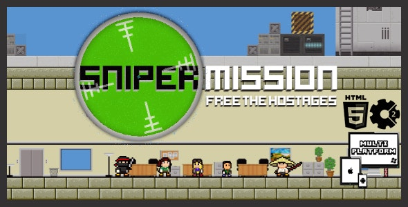 Sniper Mission - HTML5 Shooter Game - CodeCanyon Item for Sale