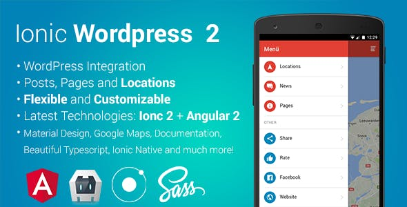 ionWordpress 2 -Wordpress full Integrated hybrid app (ionic 2 & angular 2)