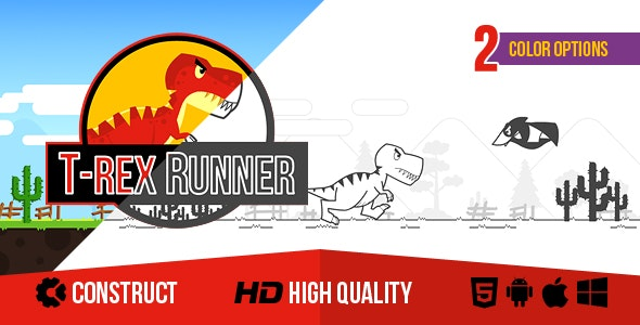 T-Rex Runner - CodeCanyon Item for Sale