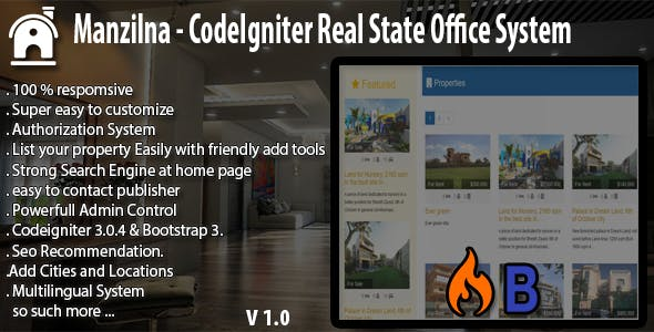 Manzilna - CodeIgniter Real Estate System