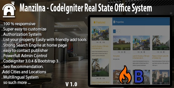 Manzilna - CodeIgniter Real Estate System - CodeCanyon Item for Sale