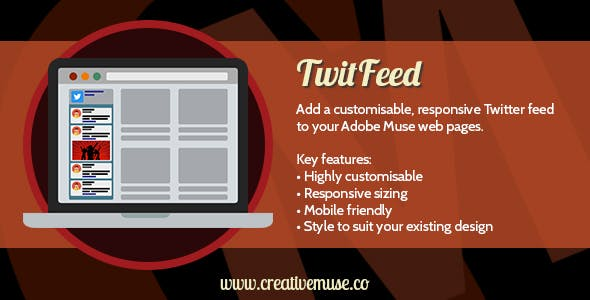 TwitFeed Widget for Adobe Muse v1.8