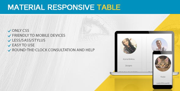 Material Responsive Table