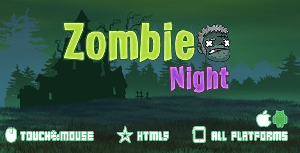 Zombie Night-html5 mobile game