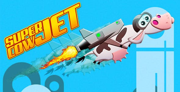 Super Cow Jet - HTML5 Casual Game