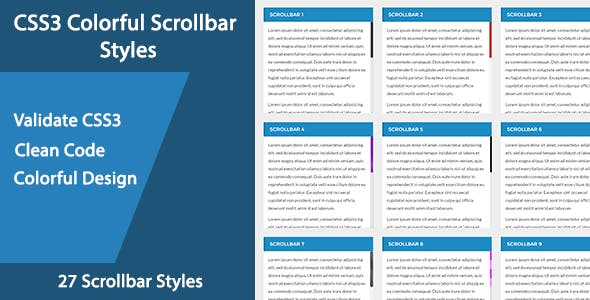 CSS3 Colorful Scrollbar Styles