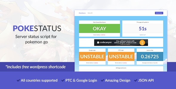 PokeStatus - Pokemon Go Server Status - CodeCanyon Item for Sale