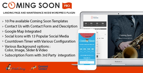 Coming Soon Landing Page and Maintenance Mode WordPress Plugin - CodeCanyon Item for Sale
