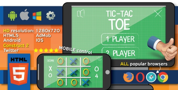 Tic tac toe - HTML5 (.capx) - CodeCanyon Item for Sale