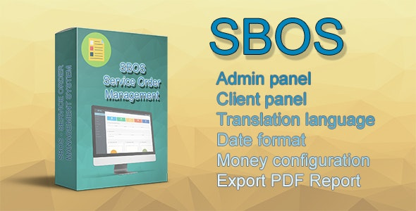 SBOS - Service Order Management - CodeCanyon Item for Sale