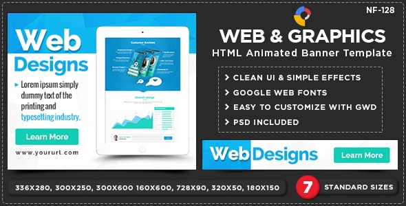 Web & Graphics HTML5 Banners - GWD - 7 Sizes(NF-CC-128) - CodeCanyon Item for Sale