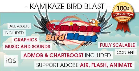 Kamikaze Bird Blast - iOS