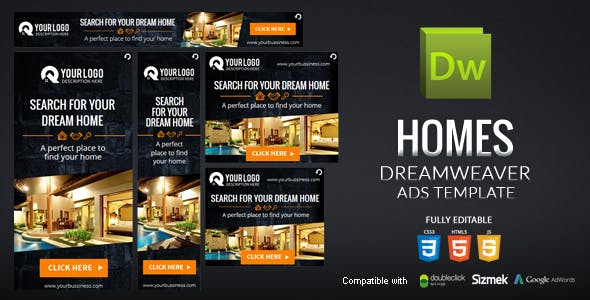 Homes Dreamweaver Ads Template