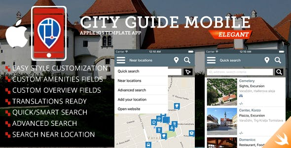 City Guide iOS iPhone App