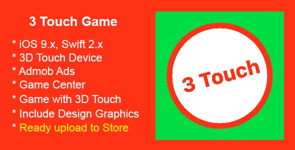 3 Touch - Swift iOS 3D Touch Game - CodeCanyon Item for Sale
