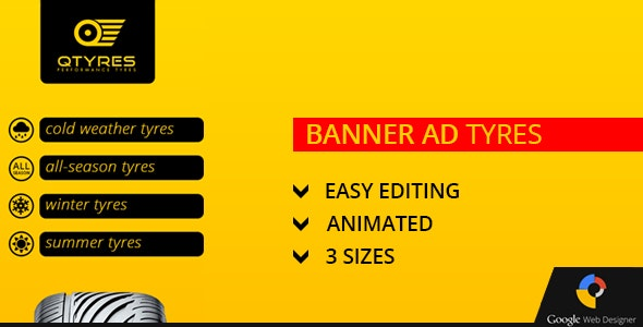 Tires Ad Banner - CodeCanyon Item for Sale