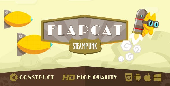 Game FlapCat Steampunk