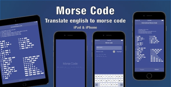 Morse Code - CodeCanyon Item for Sale