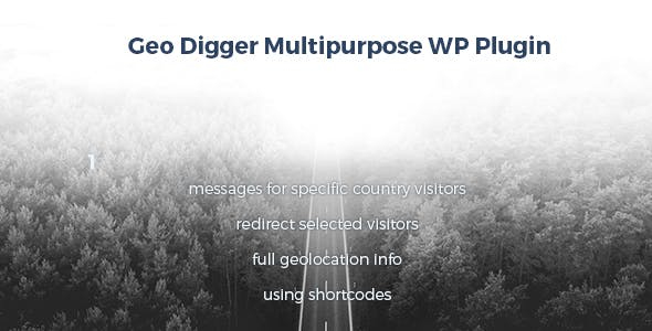 Geo Digger Multipurpose Wordpress plugin