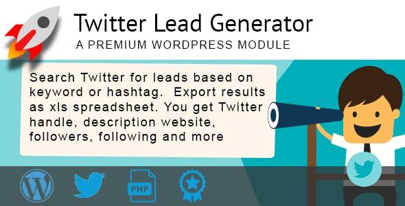 Twitter Lead Generator